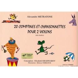 20 Comptines et Chansonnettes pour 2 violons