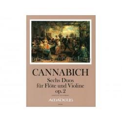 CANNABICH 6 Duos Op. 2 - Flute/Violon