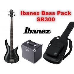 IBANEZ PACK Basse Guitar SR300E IPT + Ampli - Black