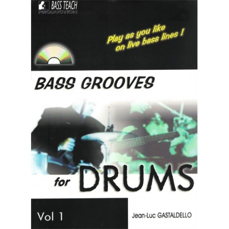 Bass Grooves for Drums - avec CD - 50%