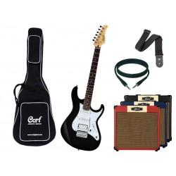 CORT G250 Black + Ampli - Pack Guitare Electrique