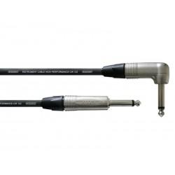 Câble Jack coudé Neutrik/Cordial 6m - 6.3mm Mono