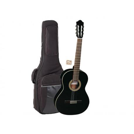 ALMANSA Guitare Electro-Classique 401 EQ Black