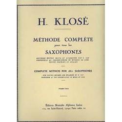 Méthode Complète de Saxophone Vol. 1 - Klosé