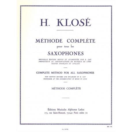 Méthode Complète de Saxophone Vol. 1 & 2 - Klosé
