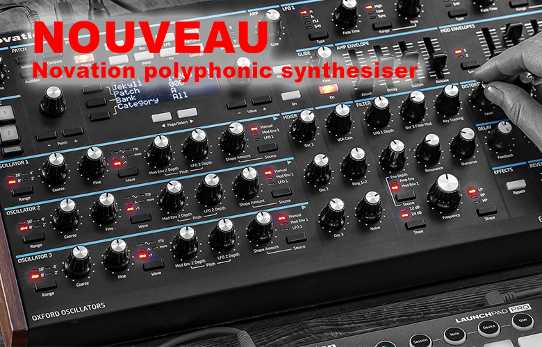 NOVATION polyphonic synthesiser